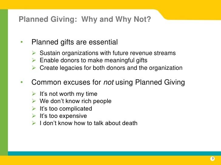 3 what is planned giving - Sample Planned Giving Letters