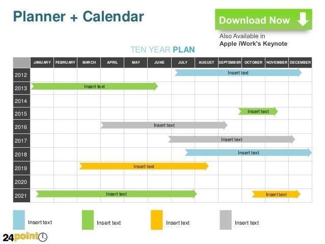 Planner + Calendar: Editable PowerPoint Slides