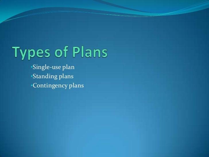 Have machines downtime of less than 7%</li></li></ul><li>Types of Plans <br /><ul><li>Single-use plan