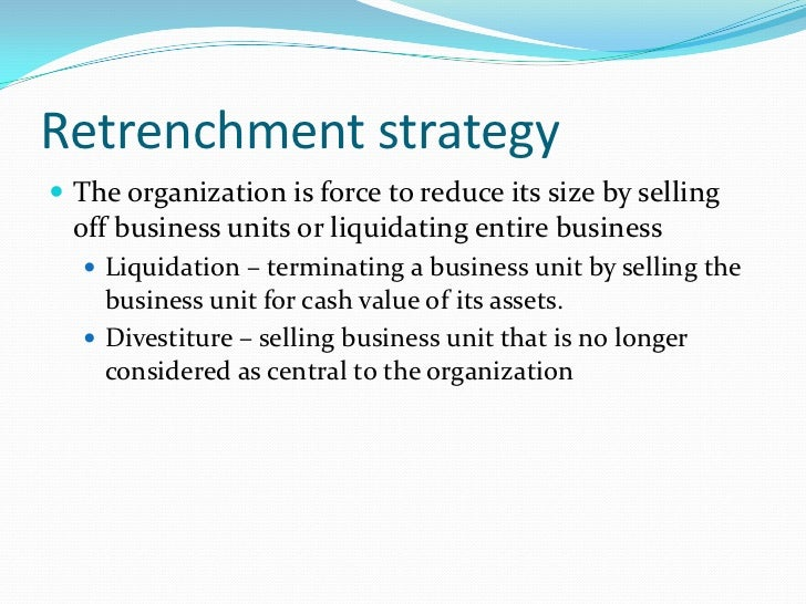 Stability strategy<br />Maintaining the same size of the organization or grow slowly in a controlled fashion.<br />