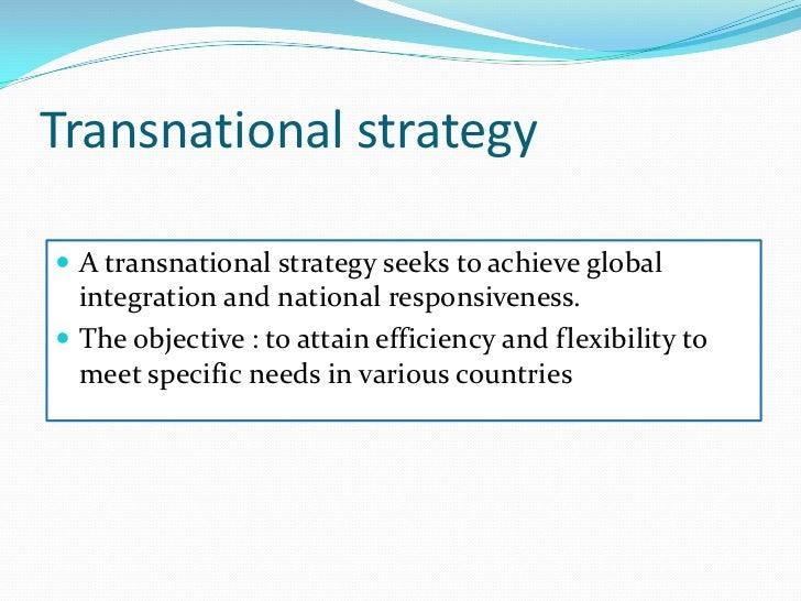 Treats world as a single market</li></li></ul><li>Multinational<br />Modification of products design and advert sizing str...