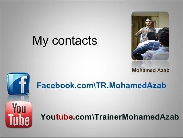 self Planning trainer mohamed azab