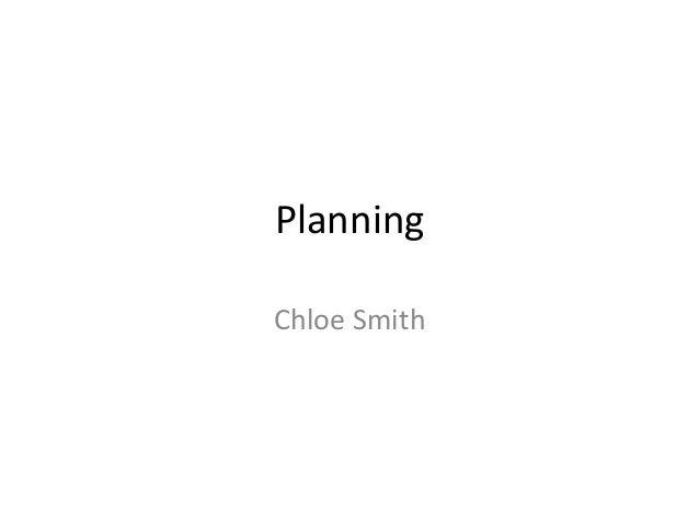 Planning Chloe Smith
