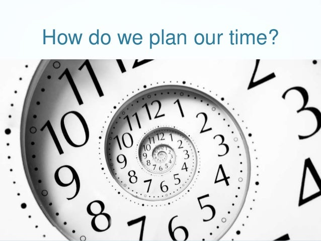 How do we plan our time?