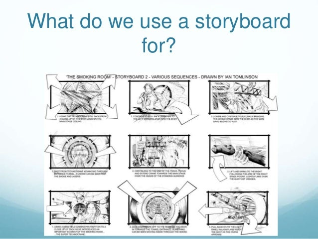 What do we use a storyboard for?