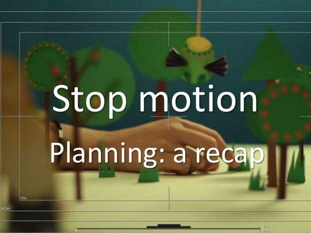 Stop motion Planning: a recap