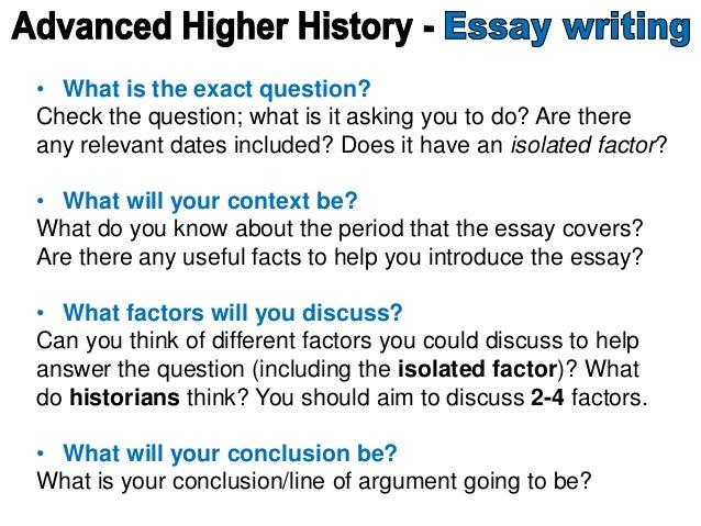 Advanced higher history essay help