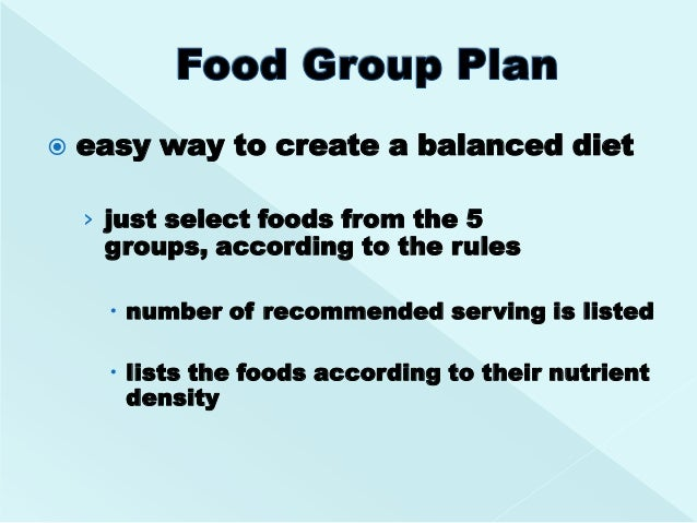 Exchange Lists Groups Foods According To