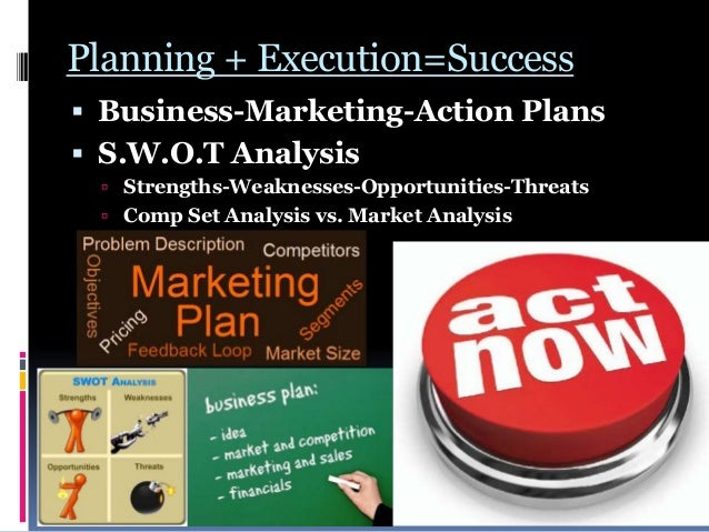 Planning + Execution=Success  Business-Marketing-Action Plans  S.W.O.T Analysis  Strengths-Weaknesses-Opportunities-Thr...