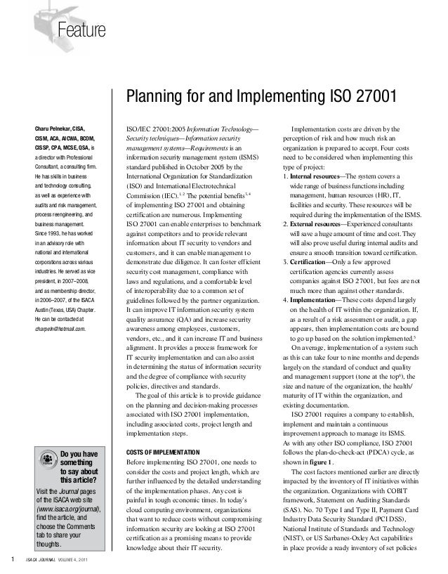 iso 27001 consultancy proposal