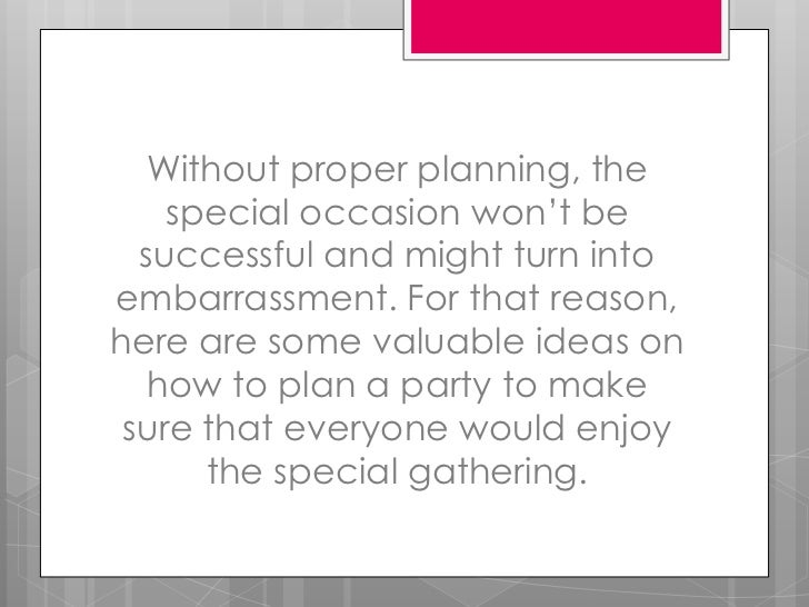 Planning a birthday party Slide 3