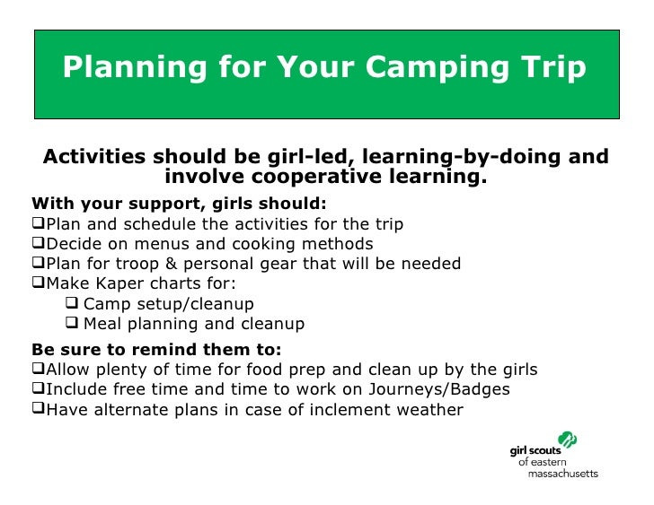 Planning A Camping Experience