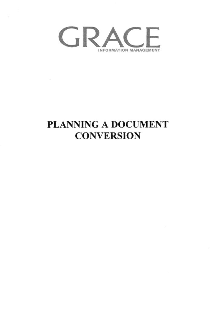 Planning a document conversion