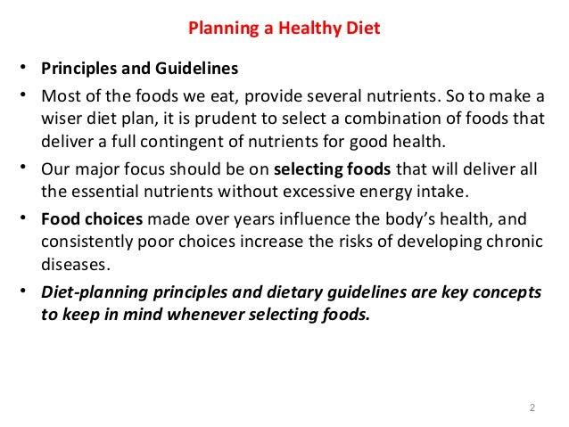 three diet planning principles