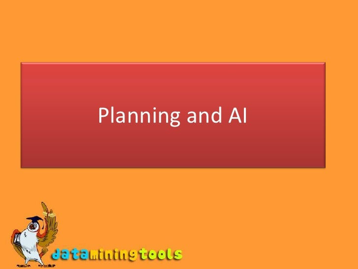 Planning and AI<br />