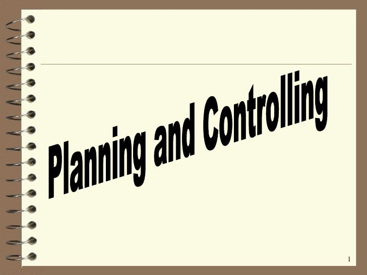 Planning and Controlling