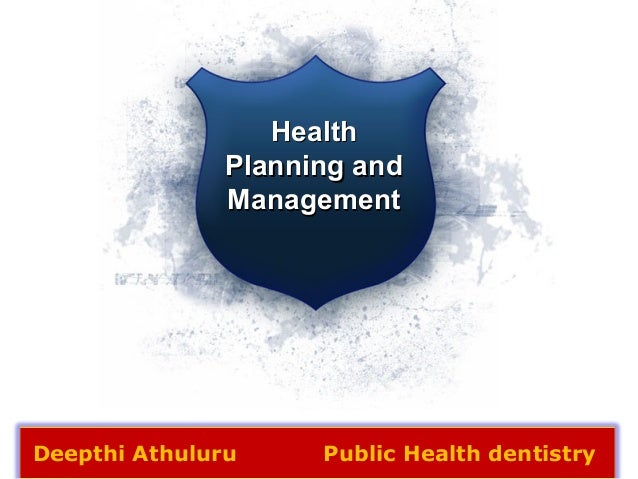 Health Planning And Management