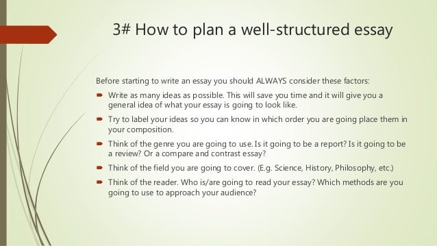 planning and organisation of essays by cristian zarza 8 3 how to plan a well structured essay before