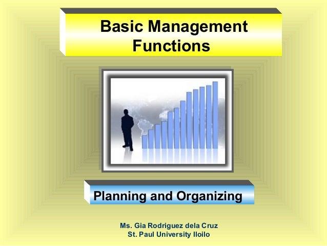 management planning function essay