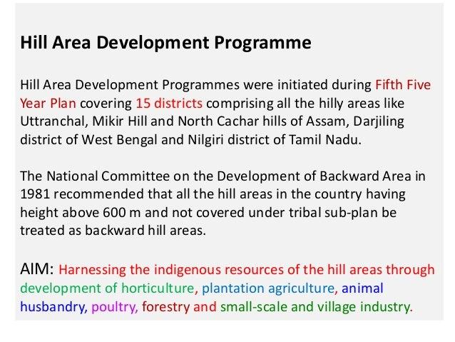 tribal area development programme