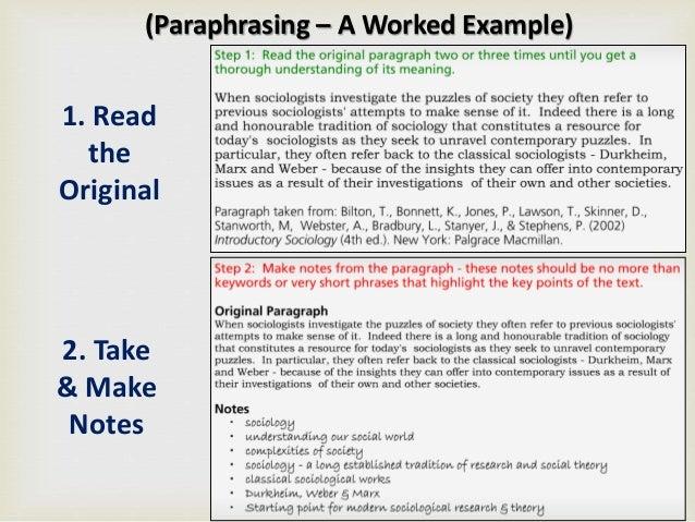 paraphrase assignment