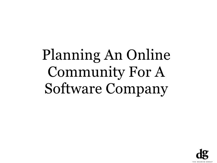 Planning An Online Community For A Software Company