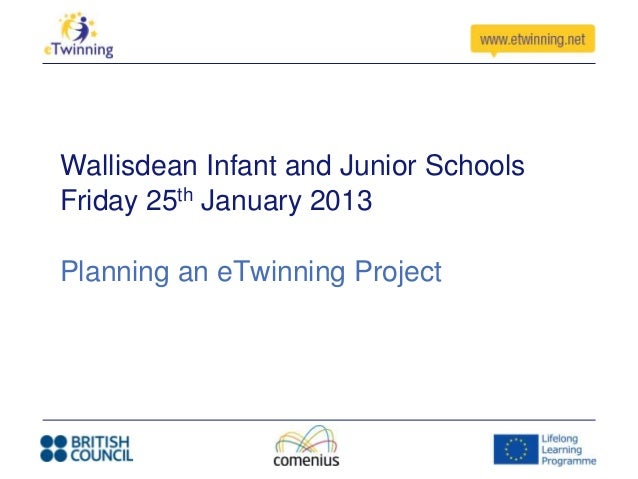 Wallisdean Infant and Junior SchoolsFriday 25th January 2013Planning an eTwinning Project