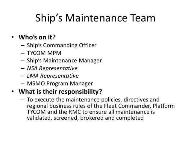 planning board for maintenance rh slideshare net Maintenance Tech Joint Fleet Maintenance Manual Logo
