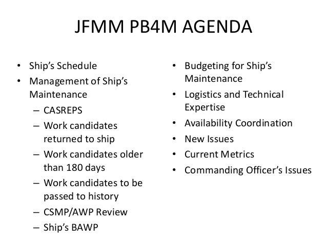 planning board for maintenance rh slideshare net Jfmm Vol. 5 PDF Joint Fleet Forces Maintenance Manual