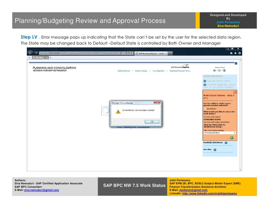 """Financial Planning/Budgeting Review and Approval Process in SAP BPC NW 7.5 - An """"End-to-End"""" Implementation Guide"""