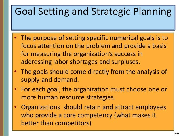 human resources strategic planning examples