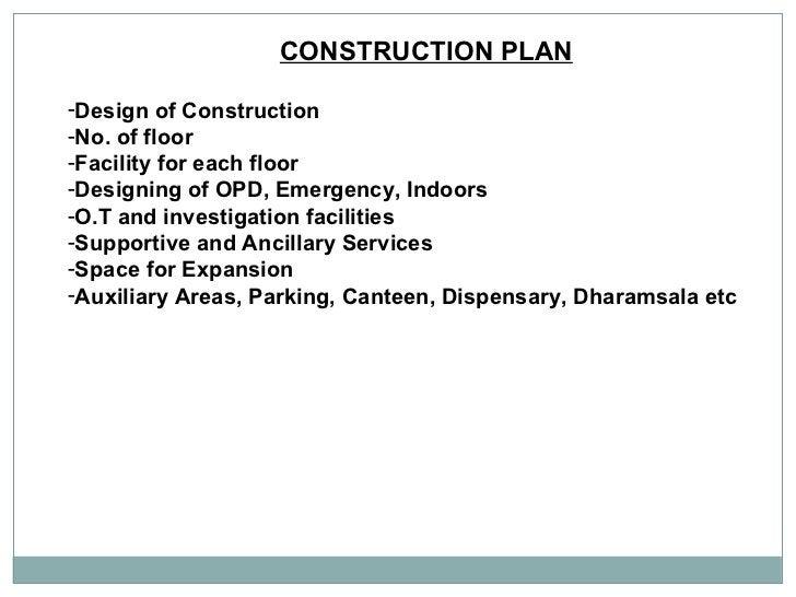 CONSTRUCTION PLAN   <ul><li>Design of Construction  </li></ul><ul><li>No. of floor  </li></ul><ul><li>Facility for each fl...