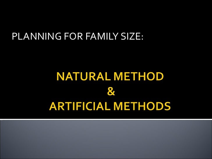 PLANNING FOR FAMILY SIZE:
