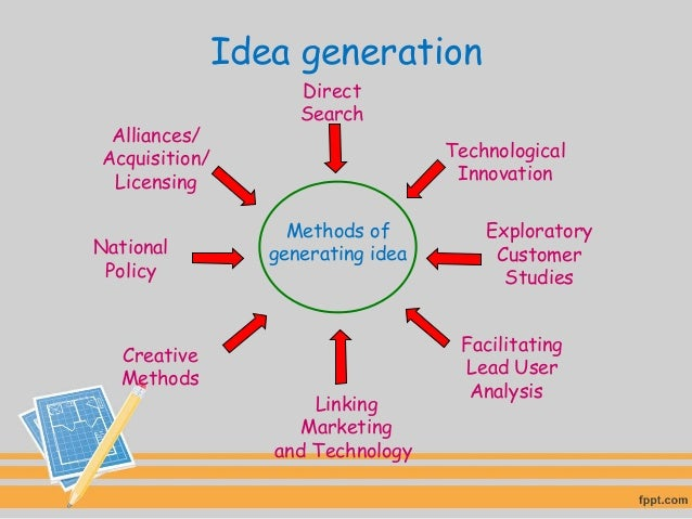 business planning process idea generation brainstorming