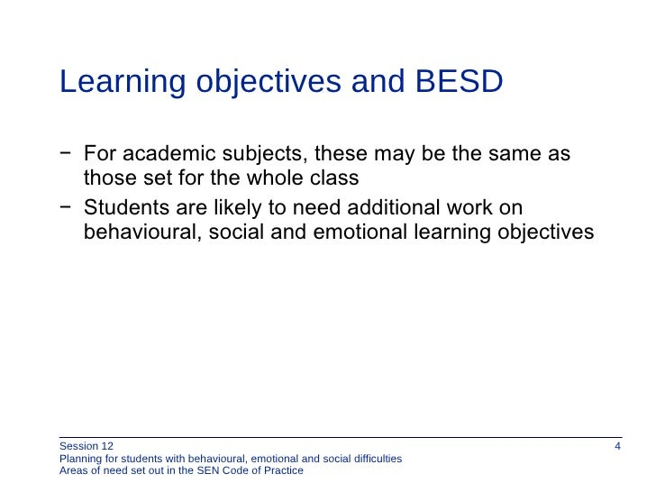 emotional, social and behavioural difficulties essay Three key aspects of the school environment are crucial for the prevention and  management of social, emotional, and behavioural difficulties (sebd) in schools.