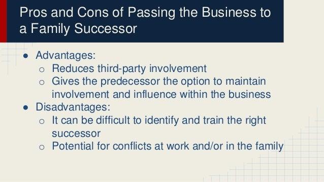 advantages disadvantages of succession
