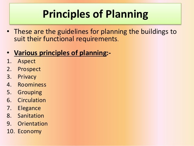 principles of planning of residential building pdf