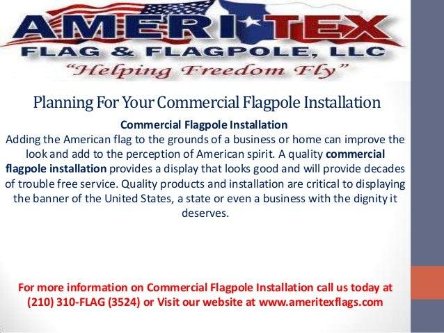 PlanningForYourCommercialFlagpoleInstallationCommercial Flagpole InstallationAdding the American flag to the grounds of a ...
