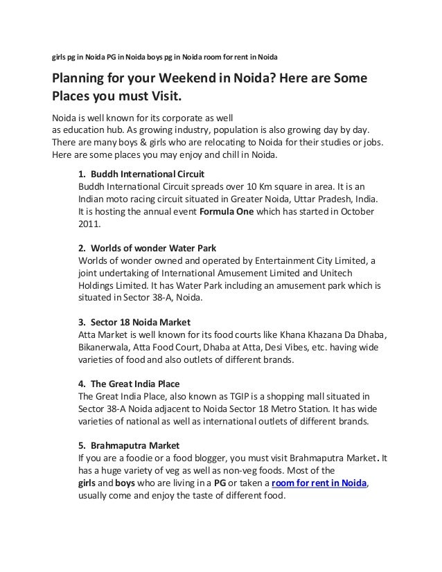 Planning for your weekend in noida here are some places you