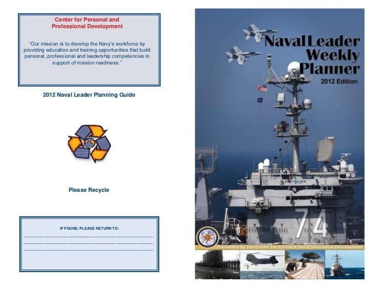 """Center for Personal and             Professional Development  """"Our mission is to develop the Navy's workforce byproviding ..."""