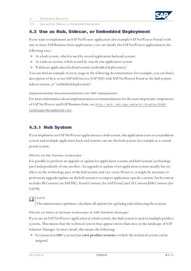 Planning guide sap business suite 7 2013 landscape implementation 41 malvernweather Gallery
