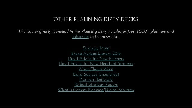 OTHER PLANNING DIRTY DECKS This