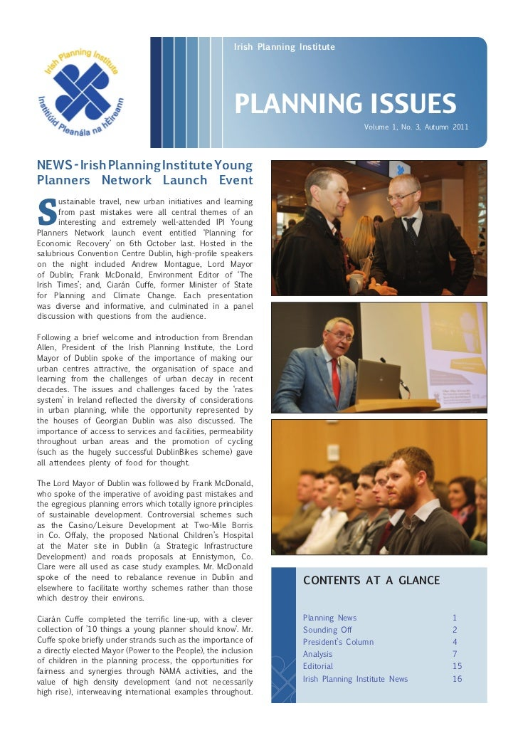 Irish Planning Institute                                                       PLANNING ISSUES                            ...