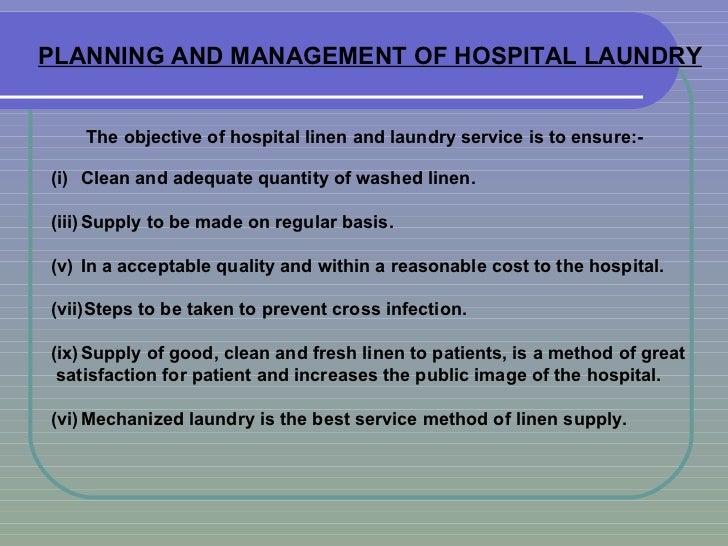 Planning & Manag  of Hospital Laundry