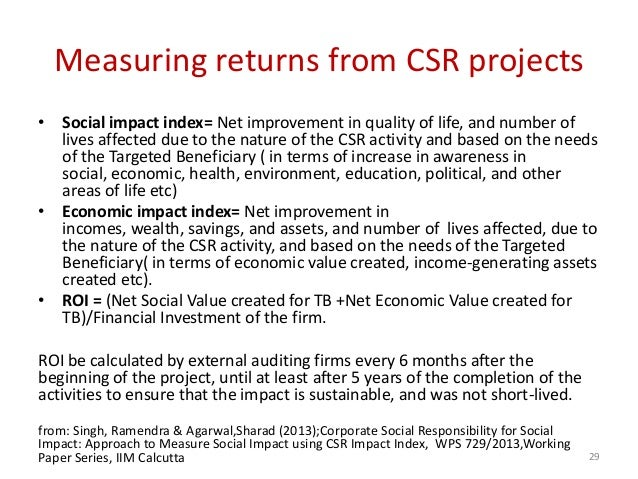 the impact of csr Corporate social responsibility is imperative, as most consumers and job seekers consider how businesses deal with their environmental, social and economic impacts.