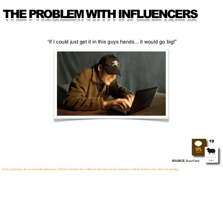 """THE PROBLEM WITH INFLUENCERS                                        """"if I could just get it in this guys hands... it would..."""