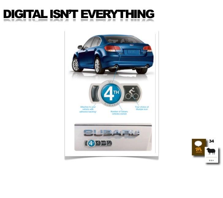 DIGITAL ISN'T EVERYTHING                                34