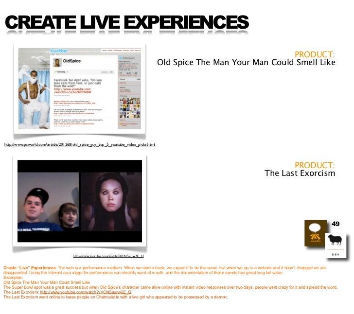 CREATE LIVE EXPERIENCES                                                                                                   ...