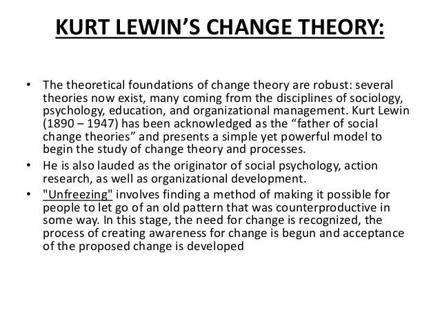 havelock s change theory Most of the theories attribute behavioral change to an individual's perspective of his/her own ability to theory of change is an attempt to explain possible.