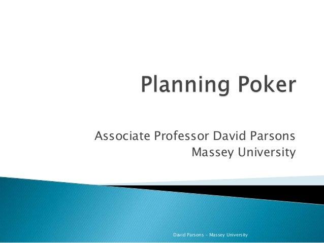 Associate Professor David Parsons Massey University David Parsons - Massey University